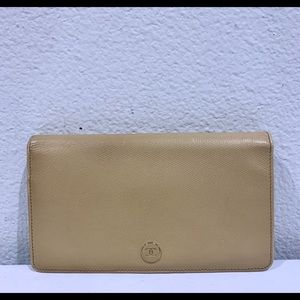 CHANEL CC Mark Beige Leather Wallet